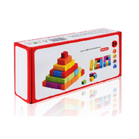 Wooden cubes educational toy, image