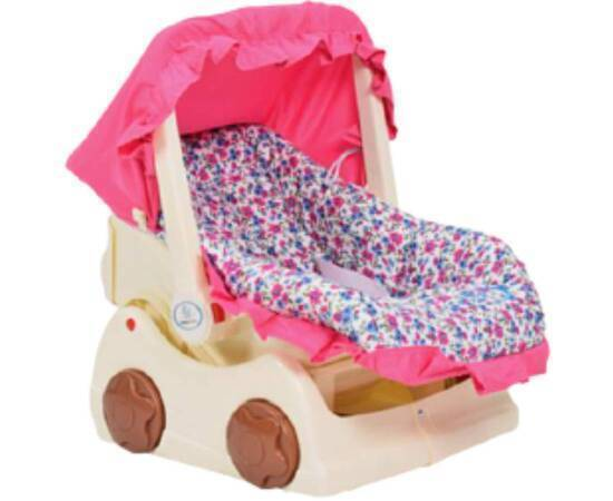 Baby Carrier with a Base and an Umbrella, Pink, image