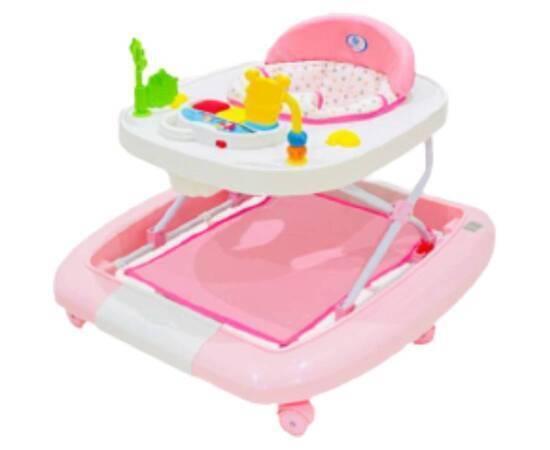 Rocking Baby Walker, Pink, image