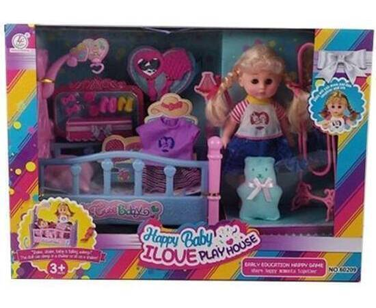 Baby Doll with a Bed Large Size, image