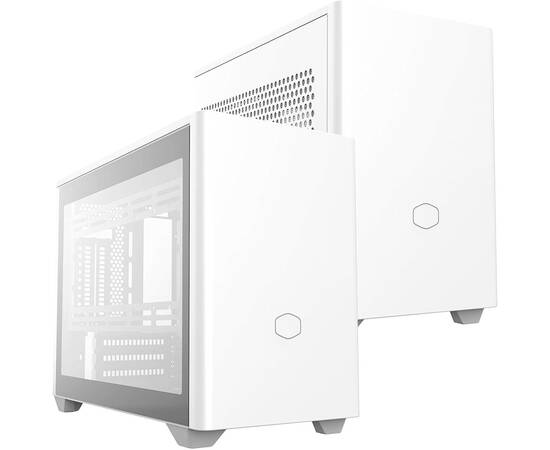 Cooler Master MasterBox NR200P PC Case, Product Dimensions: 376 x 185 x 292mm, Model: MCB-NR200P-WGNN-S00, Size: Mini ITX, Motherboard Support: Mini DTX, Mini ITX, Max MB size: 244 x 226mm, Power Supply Support: SFX, SFX-L, Color: White, image , 6 image
