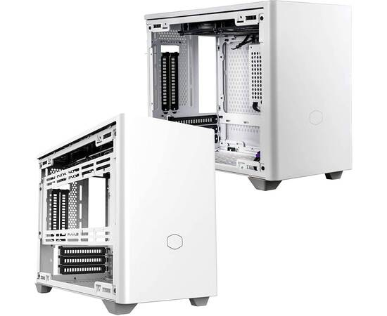Cooler Master MasterBox NR200P PC Case, Product Dimensions: 376 x 185 x 292mm, Model: MCB-NR200P-WGNN-S00, Size: Mini ITX, Motherboard Support: Mini DTX, Mini ITX, Max MB size: 244 x 226mm, Power Supply Support: SFX, SFX-L, Color: White, image , 3 image