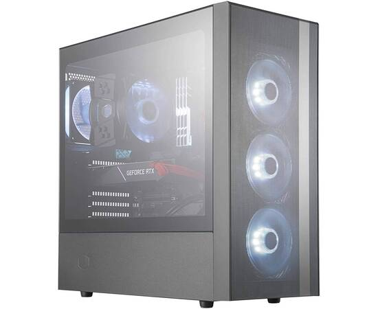 Cooler Master MasterBox NR600 PC Case Without ODD, image , 2 image
