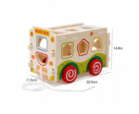 wooden shapes Bus, image , 2 image