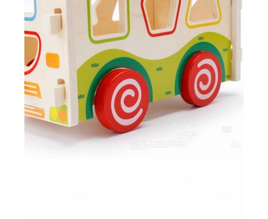 wooden shapes Bus, image , 4 image