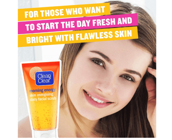 CLEAN & CLEAR Daily Facial Scrub with Vitamin C and Ginseng 150 ml, image , 2 image